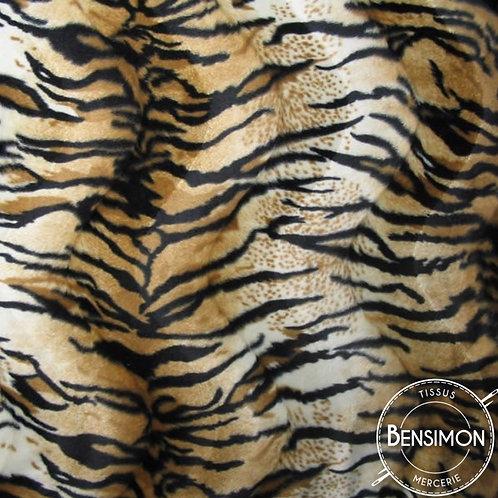 Tissu effet peau de bête - Tigre X 50cm