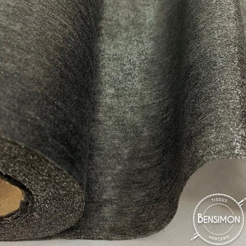 Entoilage thermocollant non tissé souple - Noir X 50cm
