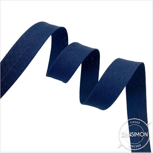 Biais coton replié 20mm - Bleu marine n°1188