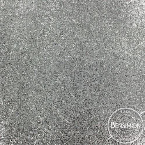 Tissu Simili Cuir Caviar - Argent X 50cm