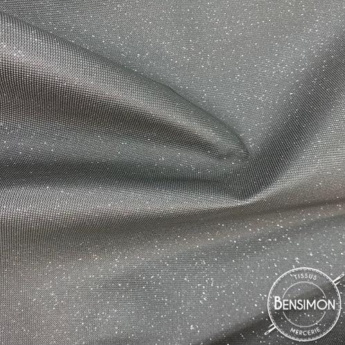 Tissu Simili Cuir Swarovski - Argent X 50cm