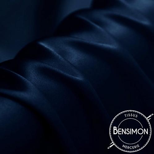 Tissu satin premium - Bleu Marine X 50cm