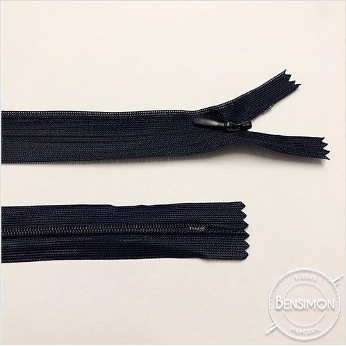 Fermeture invisible 4mm non séparable - Bleu marine
