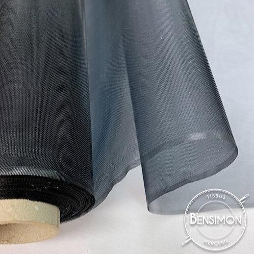 Tissu Crin très raide - Noir X 1M