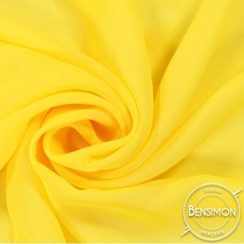 Tissu Mousseline - Jaune X 50cm