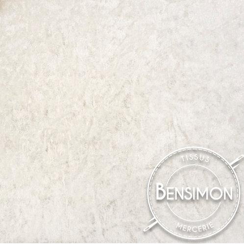 Tissu Panne de Velours - Écru X 50cm
