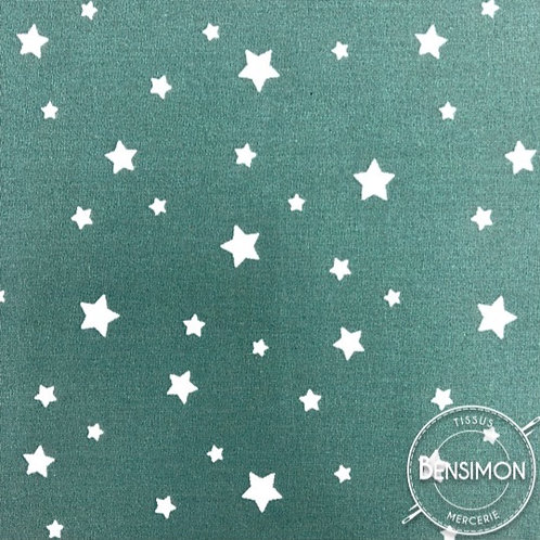 Tissu coton imprimés - Zétoile Eucalyptus X 50cm