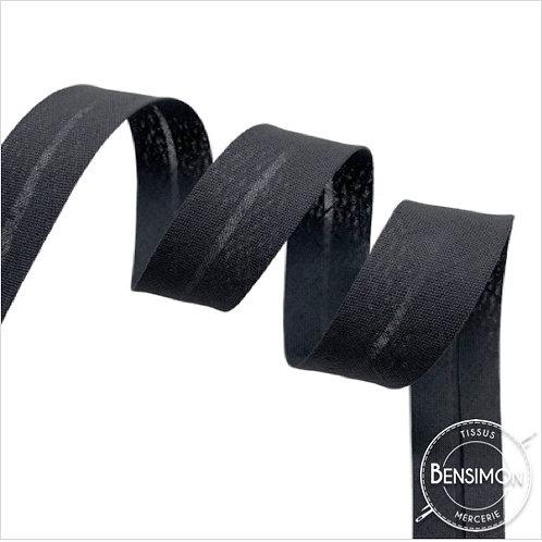 Biais coton replié 20mm - Gris anthracite n°1261