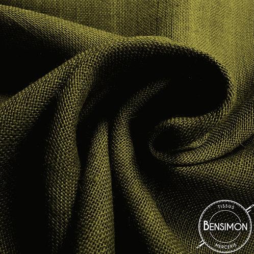 Tissu toile de Jute - Kaki X 50cm