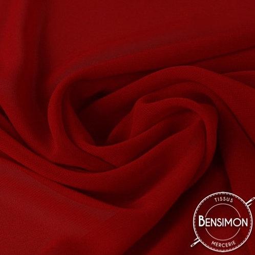 Tissu Mousseline - Rubis X 50cm