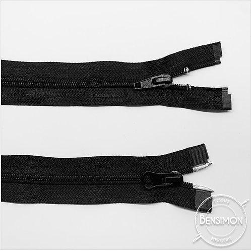 Fermetures spirale 5mm double curseur 1M - Noir