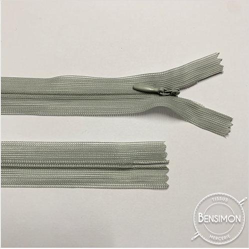 Fermeture invisible 4mm non séparable - Gris clair