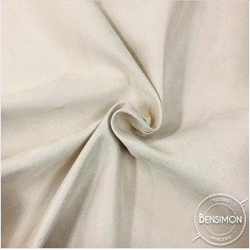 Tissu Suédine épaisse unie - Écru X 50cm