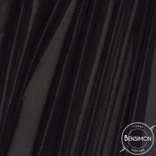 Tissu extensible Lycra stretch lamé brillant pailleté justaucorps académique noir