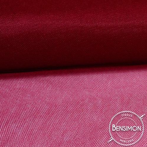Tissu Tulle souple grande largeur - Bordeaux X 1M