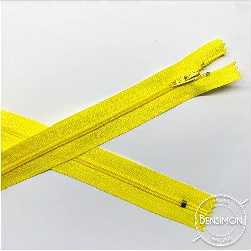 Fermetures nylon 3mm non séparables - Jaune citron 20 à 60cm