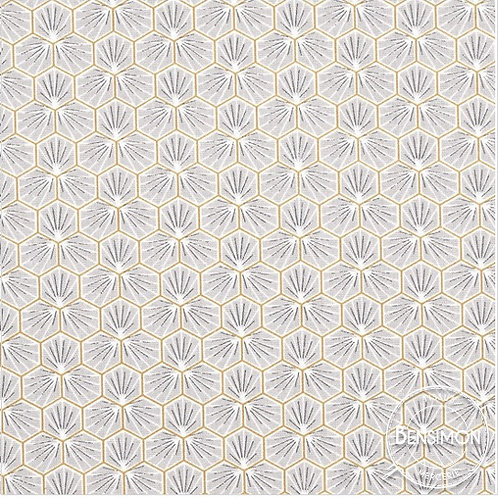 Tissu coton imprimés - Riad gris X 50cm