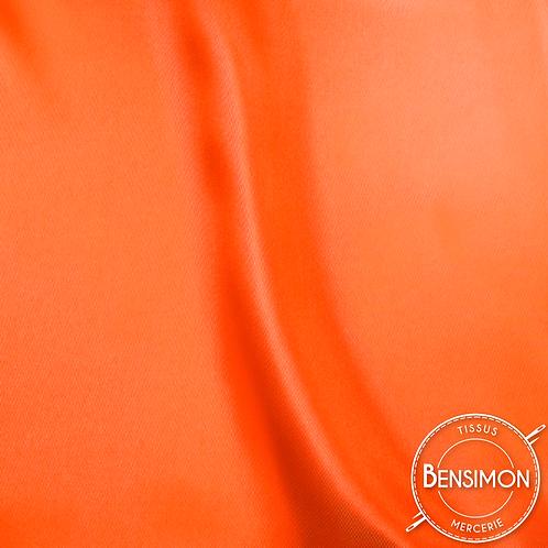 Tissu satin uni léger - Orange X 50cm