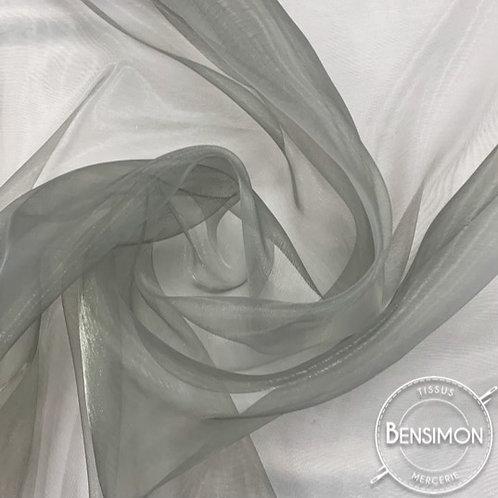 Tissu Organza - Gris perle X 50cm