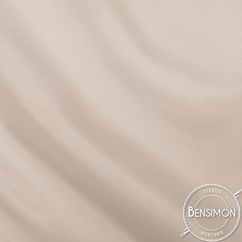 Tissu doublure satin - Beige X 50cm