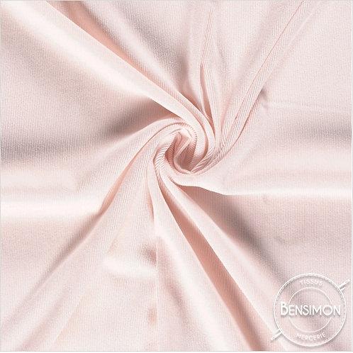 Tissu Velours côtelé milleraies - Rose layette X 50cm