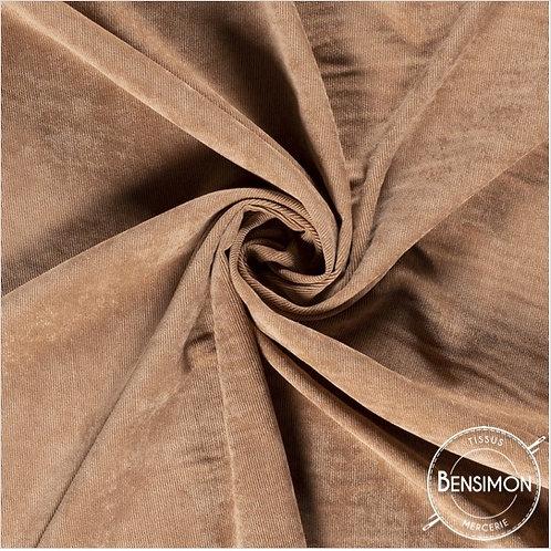 Tissu Velours côtelé milleraies - Camel X 50cm