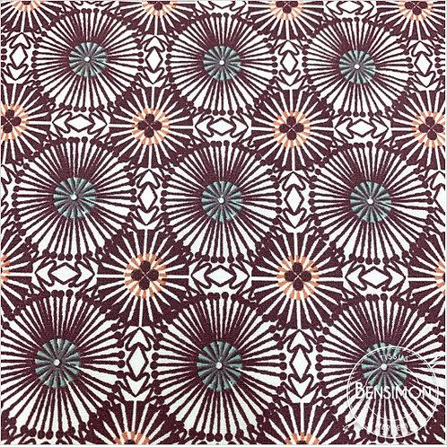 Tissu coton imprimés - Momby Prune X 50cm
