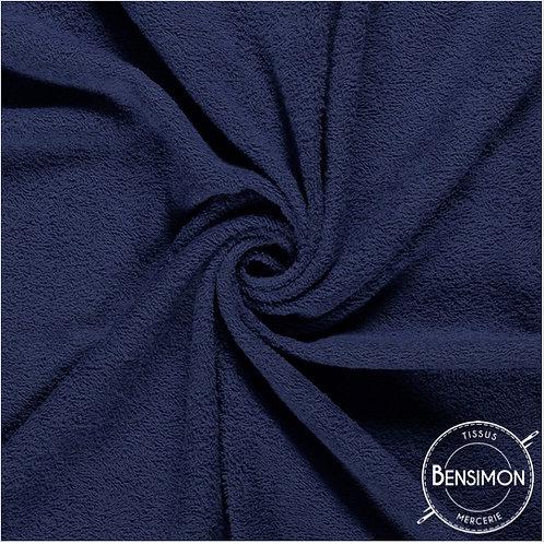 Tissu éponge coton OekoTex - Marine X 50cm