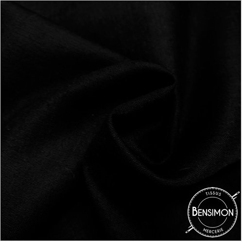 Tissu PolyCoton uni - Noir X 1M