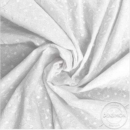 Tissu broderie anglaise - Blanc X 50cm