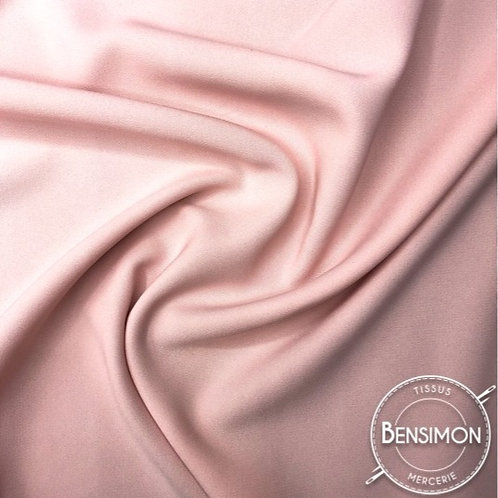 Tissu Crêpe - Vieux rose X 50cm