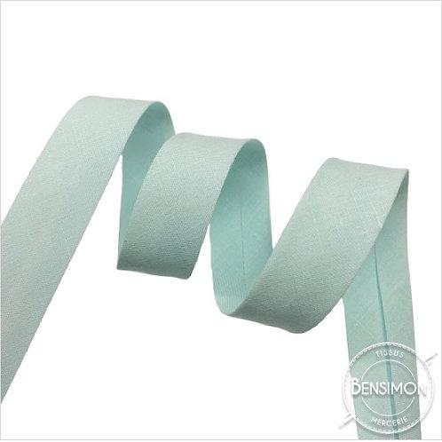 Biais coton replié 20mm - Vert d'eau pâle n°1135