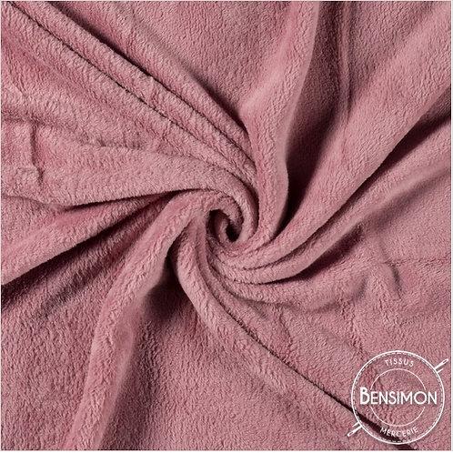 Tissu Pilou - Vieux rose X 50cm