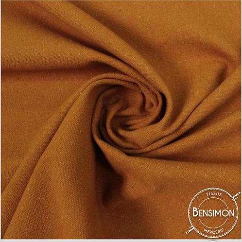 Tissu natté toile lourde - Terracotta X 50cm