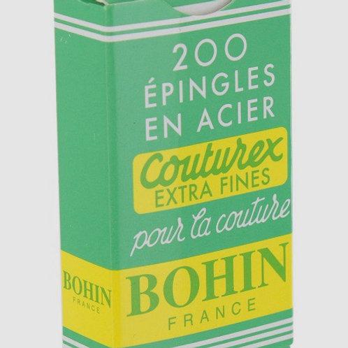 Épingles Bohin tête acier - Boite de 200