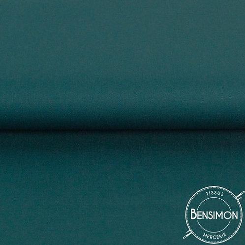 Tissu natté Gabardine Coton - Pétrole X 50cm