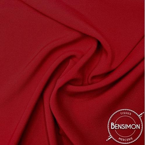 Tissu Crêpe - Rouge X 50cm