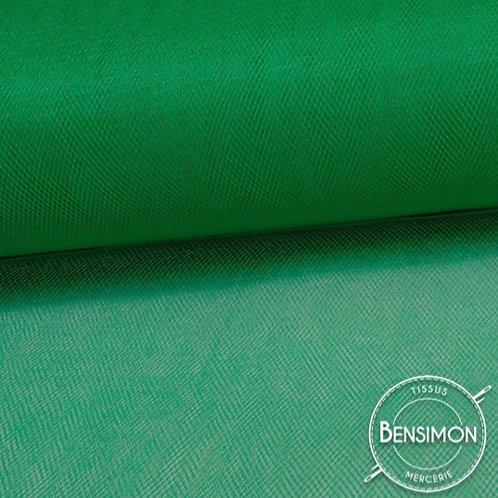 Tissu Tulle souple grande largeur - Vert Gazon Forest X 1M