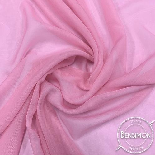Tissu Mousseline - Rose X 50cm
