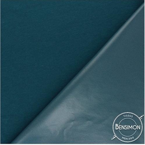 Tissu PUL imperméable coton OekoTex - Pétrole X 50cm