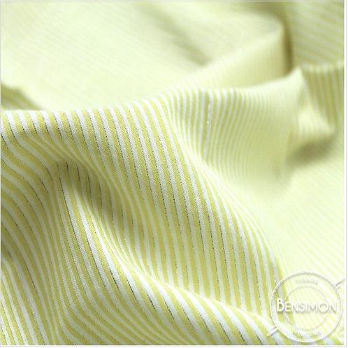 Tissu coton Seersucker Lurex - Jaune citron X 50cm