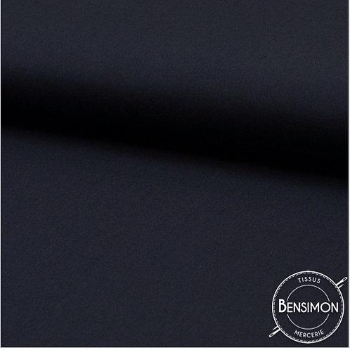 Tissu Coton uni Popeline - Gris Anthracite X 50cm