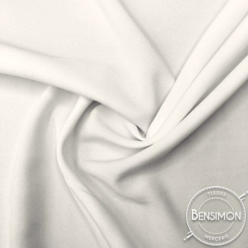 Tissu Crêpe - Blanc naturel X 50cm