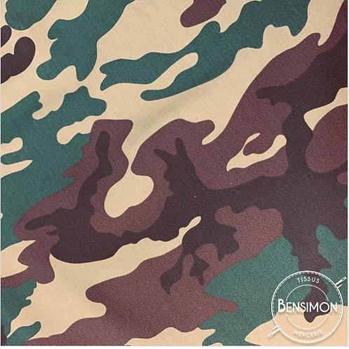 Tissu coton imprimés - Army X 50cm
