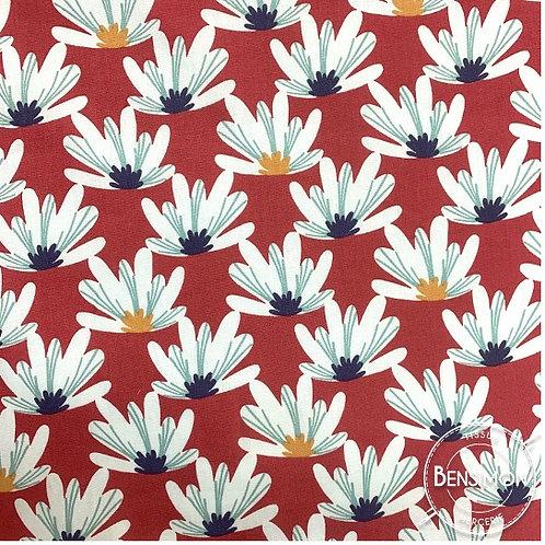 Tissu coton imprimés - Myriel Framboise X 50cm