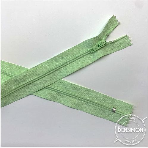 Fermetures nylon 3mm non séparables - Vert d'eau 20 à 60cm