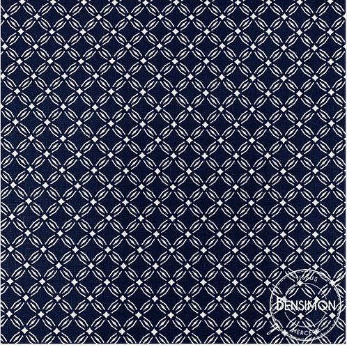 Tissu coton imprimés - Motif Emil marine X 50cm