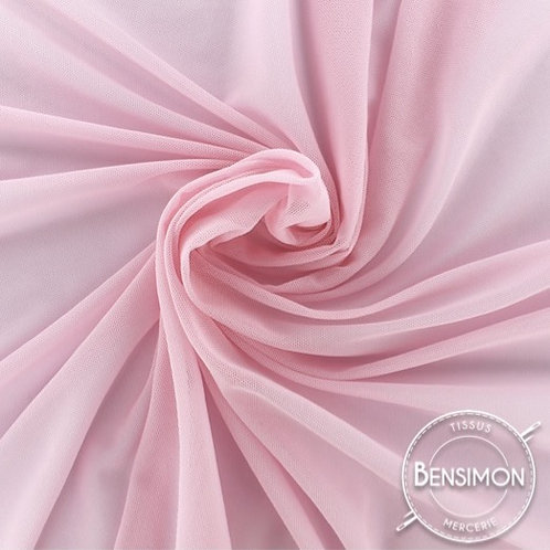 Tissu Tulle élasthanne résille - Rose clair X 1M