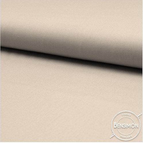 Tissu Coton uni Popeline - Lin X 50cm