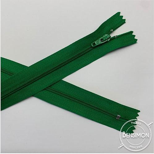 Fermetures nylon 3mm non séparables - Vert gazon 20 à 60cm